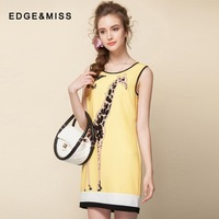 2014 new spring and summer sweet ladies sleeveless vest dress sequined butterfly child giraffe Slim dress