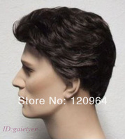 Short Dark Brown Curly Hair Synthetic Women Cosplay Hair Full Wigs   direct sales Wholesale Free deliver