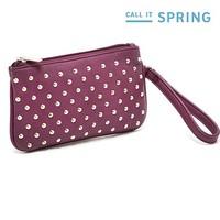 free shipping Hot selling PU Leather fashion designer Rivet bag women wallets Clutch Bag day clutch wallet women evening bags