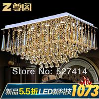 [ Statue ] European Court Restaurant rectangular living room luxury crystal ceiling lamp Z071 Crystal Magic Crystal