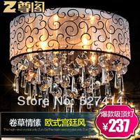 [ Court ] statue of European imports led crystal ceiling lamp romantic living room bedroom den Lighting Z015