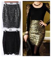 new fashion spring summer autumn 2014 lace slim hip  plus size high waist casual pencil short skirt women skirts female