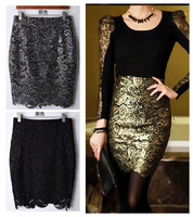 new fashion spring summer autumn 2014 lace slim hip  plus size high waist casual pencil short skirt women skirts female