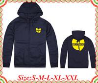 Online Stock Free Shipping Wu Tang Brand  New Arrival Yellow Print Streetwear Zipper Man Woman Hoody