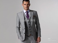 Wholesale - wedding dress and groom groomsman groomsmen suits / men's suits Groom ( Jacket + pants + tie + vest ) MA572