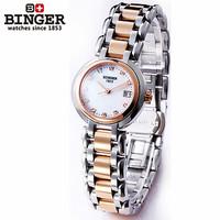 Genuine brand moon heart steel designer wristwatch golden round case waterproof watch fashion women quartz mini dress watches