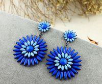 Hot High Quality Women Long Big Alloy & Resin Pendant Vintage Earrings Handmade Bohemia/Ethnic Statement Earring Jewelry E016340
