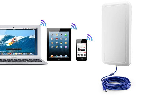 1 Pair - Long Range Outdoor 150M USB Wireless WiFi Adapter Antenna Booster 12 dBi 2.4 GHz 11n 500mW(China (Mainland))