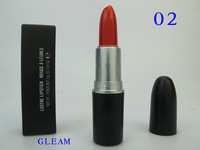 Free HKPOST Brand MC Brand Makeup 3G Lustre Lipstick Retro Red and Fashion Pink 2PCS/lot +english name  GLEAM& BRIGHT PINK
