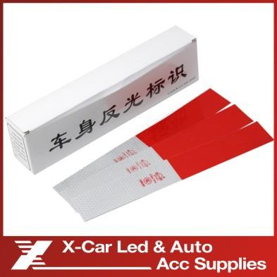 30pcs Reflective warning stickers truck microbiotic reflective of big car warning sticker bus reflective stickers tape(China (Mainland))