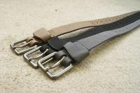Fashion Hollow Thread Three-color Scrub Quality Women Waist PU Belt