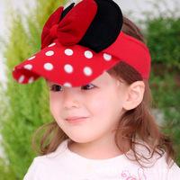 2014 New Summer Beautiful Big Butterfly Bow Baby Girl Visors Kids Sunbonnet Sun Hats Child Visor Caps For Baby 2-8 years