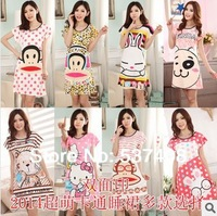 2014 women's robes of cotton short-sleeve milk, silk nightgown sleepwear lounge women sleepwear clothing pajamas sets bathrobe