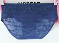 Free shipping 3pcs/lot 2014 new sexy lingerie Lace panties waistline women underwear hollow out briefs