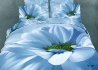 New Beautiful 4PC 100% Cotton Comforter Duvet Doona Cover Sets FULL / QUEEN / KING SIZE bedding set 4pcs flower white blue green