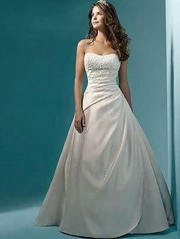 Свадебные платья noiva! дешевые цена! 2015 бесплатная доставка перл линии без бретелек поезд белый / слоновая кость свадебные платья вл 6642 в наличии