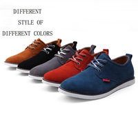 2014 New Fashion Men Shoes Leather Shoes Man Flats High Quality Boots Shoes Low Top Male Sneakers Genuine Leather Oxford Shoes