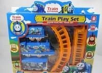 Thomas train track tomas electric train set Baby children's educational toys Small electric splicing rail train set