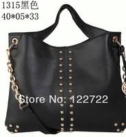 The new luxury fashion decorative rivets 5 color choices Messenger bag handbag shoulder bag
