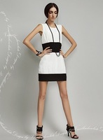 2014 Free shipping new women dress women spring clothing package hip step skirt pencil skirt chiffon dress big yard high end