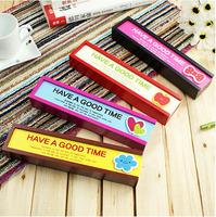 1321 korea stationery mini wool pull cartoon wooden pencil case stationery box storage box 0.11