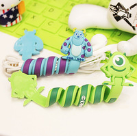 1453 cartoon earphones slitless at both ends cable winder fitted device management-ray device straps