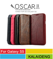 Original Kalaideng Oscar II Series PU+Microfiber Leather Flip Cover Cases For Samsung Galaxy S5 G900 SV With Retail Package
