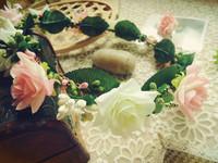 Jacqueminot female child bride bridesmaid garland hand ring hair accessory