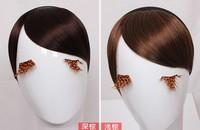 straight bangs, synthetic hair bangs, short Wigs, hair bang extensions, anime hair, 100pcs/lot