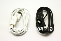 Free Shipping!!10pcs Black And White Micro USB Data Cable sync Charger cable For Samsung galaxy i9300 i9220 Nokia