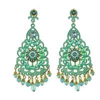 Hot High Quality Women Long Big Alloy & Resin Pendant Vintage Earrings Handmade Bohemia/Ethnic Statement Earring Jewelry E010488