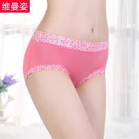 Panties female Indian fiber mid waist butt-lifting sexy leopard print seamless panties cotton 100% cotton female panties soft