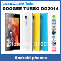 DOOGEE TURBO DG2014 Android 4.2.2 Quad Core MTK6582 1GB RAM 8GB ROM 13MP Camera , 5.0 inch HD IPS OGS Support Dual sims standby