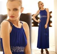 Elegant 2014 spring and summer decoration slim full dress one-piece dress evening dress