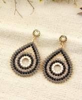 Hot High Quality Women Long Big Alloy & Resin Pendant Vintage Earrings Handmade Bohemia/Ethnic Statement Earring Jewelry E014507