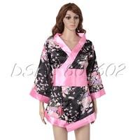 Sexy Romantic Sakura Kimono Dress Ribbon G-string Adjustable Waistband Costume