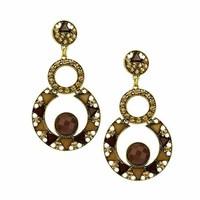 Hot High Quality Women Long Big Alloy&Resin Pendant Vintage Earrings Handmade Bohemia/Ethnic Statement Earring Jewelry ER-019365