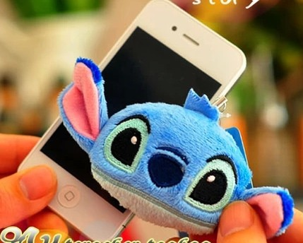 3 pcs/lot Mini Lilo & Stitch plush doll phone accessories Wipe the phone's screen,Free shipping(China (Mainland))