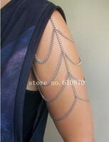 2014 New Women Summer Fashion Punk Shoulder Arm Body Chain Harness Sexy Arm Bracelet Jewelry