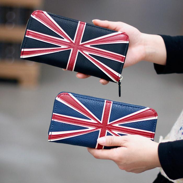 Retro Multifunction Fashion design UK flag women long wallet/purse girl's hasp purse Gift wallet Navy wallet women()