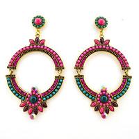 High Quality Women Long Big Alloy & Resin Pendant Vintage Earrings Handmade Bohemia/Ethnic Statement Earring Jewelry ER-013524