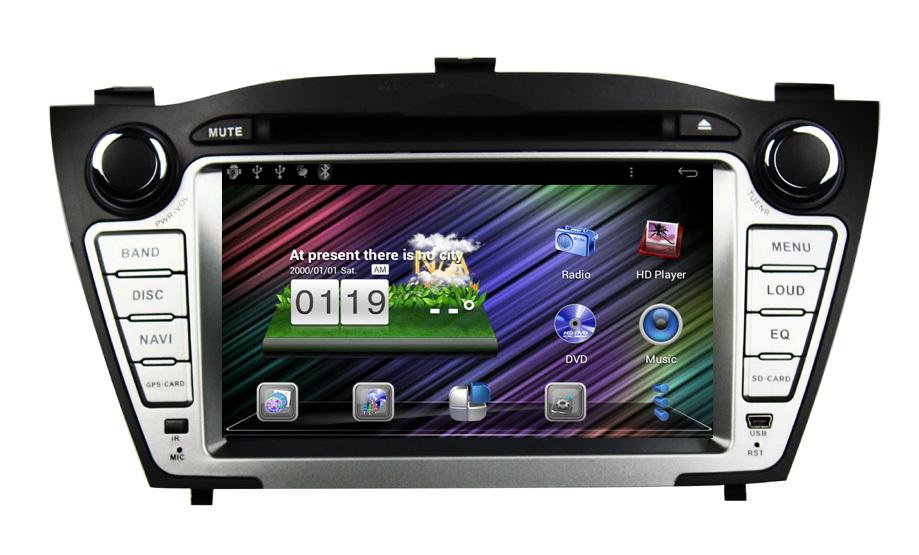 "7"" Car Headunit Autoradio Android DVD For 2009-2012 Hyundai Tucson/ IX35 with 3G WIFI GPS BT RDS Radio USB SD Sat Nav Russia(China (Mainland))"