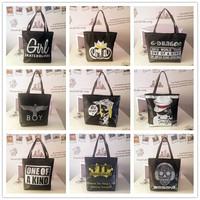2014 female vintage shoulder bag messenger bag canvas bag handbag women's fashion all-match casual bags large