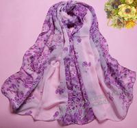 2014 spring and autumn female chiffon scarf georgette silk scarf cape all-match long design