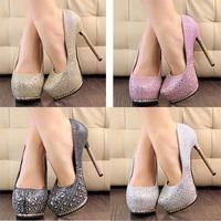 Spring 2014 new  women shoes high heel women pumps apatos mujer Metal diamond high heels fashion high-heeled pumps