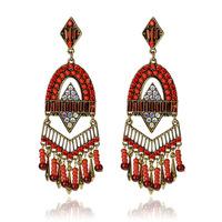 High Quality Women Long Big Alloy & Resin Pendant Vintage Earrings Handmade Bohemia/Ethnic Statement Earring Jewelry ER-020119