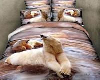 New Beautiful 4PC 100% Cotton Comforter Duvet Doona Cover Sets FULL / QUEEN / KING bedding set 4pcs animal bear