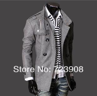 Hot sale man spring 2014 down & parkas new men's clothing coat outdoor fun & sports down jacket coat sports wear wool coat men(China (Mainland))