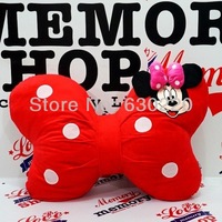 Hot sale Minnie Mouse Bowknot Pillow for girls Pink/Red Mickey Cushion pillows for girlfriend Child's plush toy Free shipping