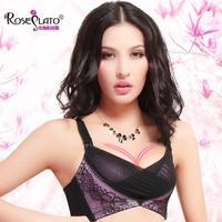 T2057 Rose Plato authentic gather close Furu bra underwear Ms. adjustable bra sexy deep V temptation to
